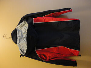 Kid's unisex navy blue/red jacket with hoodie Size Large NEW London Ontario image 2