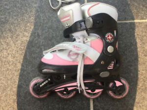 Kids Pink Rollerblades in good condition- Size 1,2,3 and 4
