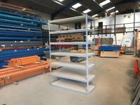 7 TIER LEVEL RACKING INDUSTRIAL WAREHOUSE WORKSHOP GARAGE BAY SHELVING