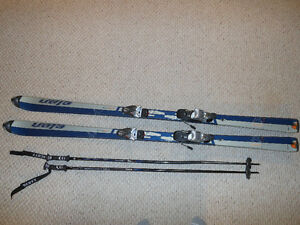 SKI SET- ELAN SKIS, NORDICA BINDINGS, SALOMON BOOTS, SCOTT POLES