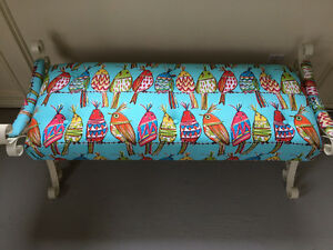 Upholstered Mid Century, Bench Settee