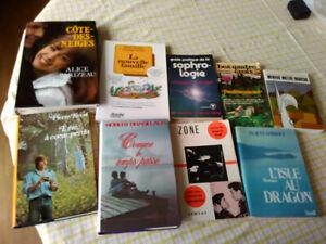 Livres, plusieurs.