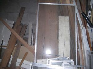 LARGE ALUMINUM FRAMED WINDOW ++others