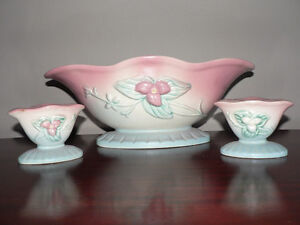 Hull Art Console Bowl and 2 Candlesticks