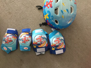 Boys Matching Helmet with elbow and knee pads for rollerblading