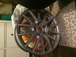 "17"" Vw rims and tires 225/45/17, set of four"