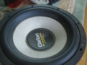 2 clarion 10 inch subwoofers car and home technics amp