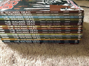 The Walking Dead Comic Book Graphic Novels 1 - 17 lot !!!