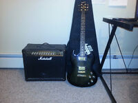 Guitar and Amp Set