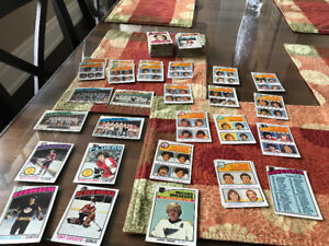 VINTAGE 1976 OPC HOCKEY CARD LOT APPROX. 164