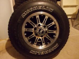 HD Series Aluminum Wheels wraped in Michelin LTX 245-75-16 Tires