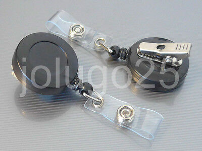 Retractable Badge Holder SWIVEL-BACK Alligator Clip ID Card Reel 10, 50,100 K40
