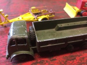 Antique toy cars and trailer
