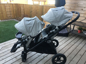 City select double stroller and bassinet