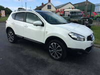 NISSAN QASHQAI 1.5 DCI N-TEC+ WHITE PANROOF FROM £174 A MONTH NO DEPOSIT