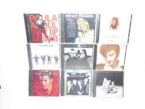 190 CDs IN VARIOUS GENRES & ARTISTS - EXCEL. COND. - 1 OWNER