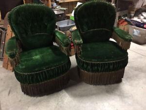Pair of Antique train chairs - Victorian era