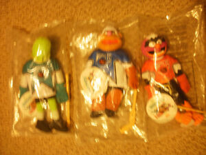 McDonald's 1995 Muppet Hockey Players Plush Dolls