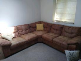 100% leather Large leather corner sofa