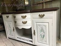 Antique dresser sideboard with mirror ⭐️ DELIVERY AVAILABLE ⭐