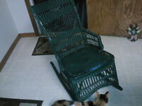 Vintage Wicker small rocking chair