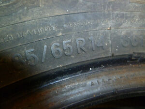 snow tires for sale, only used one year Kawartha Lakes Peterborough Area image 1