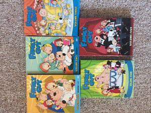 Volume 1-5 DVD set of Family Guy
