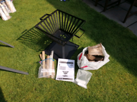 Steel Fire Basket and Starter pack
