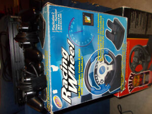 Sony Play Station 2 PS2 Racing Bundle 2 wheels and  51 games