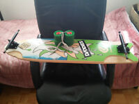 -MINT- Complete Grease Shark Longboard and slide gloves