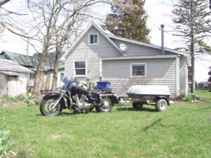 750 Shadow with trailer