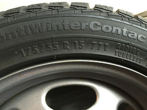 WINTER TIRES on rims for your SmartCar Kitchener / Waterloo Kitchener Area image 3