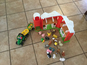 Little people farm and John deer singing tractor