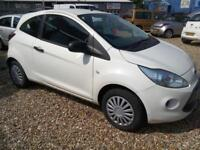 2012 Ford Ka 1.2 ( 69ps ) ( s/s ) Studio 75K 2Owners White LowIns Ideal 1st Car
