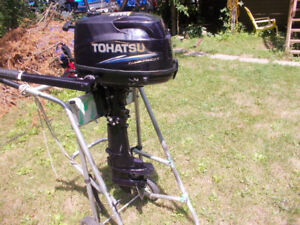 4 HP Tohatsu outboard  Low hours