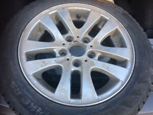 205 55 16 - Bmw alloy Rims with tires