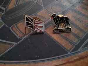 2 pins nl. Dog,and flag 3 ea or 2 for 5..I have more ads thanks