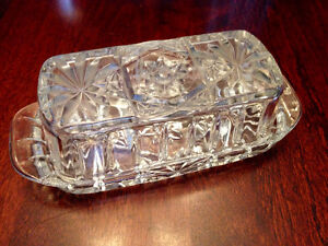 Crystal Rectangular Butter Dish