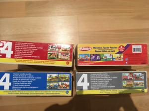 Lot de 8 jouets en bois