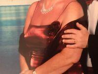 Burgundy Bridesmaid/Prom/Evening Dress Size 14-16