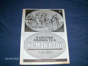 8 EXCITING COURSES TO A HE MAN BODY-BEN WEIDER-CATALOG-RARE!