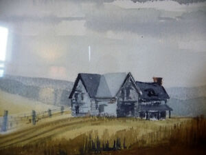 Two Beautiful Watercolor Farming Landscapes by Des Major 1985 Stratford Kitchener Area image 3