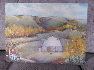 "REDUCED --Original OIL Painting titled ""Fall in the Valley"""