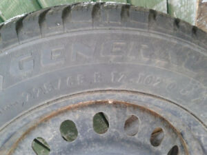 4 General Tires and rims, very low kms