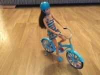 Barbie and bicycle set