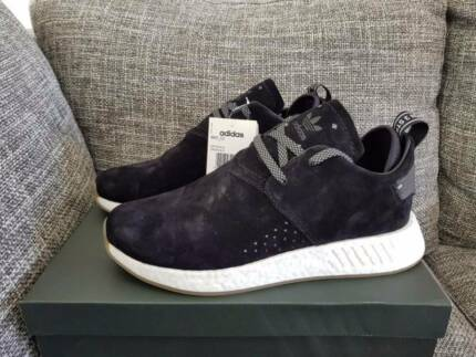 Brand New Adidas NMD C2 US 9.5 or 7.5 Black suede