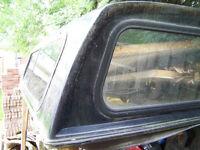 Black Dodge Dakota Fiberglass Truck Cap