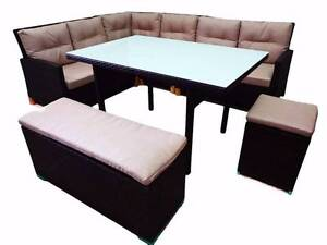 Outdoor Furniture Dining Sofa KINGSTON 9 Seater,Table Modern Berwick Casey Area Preview