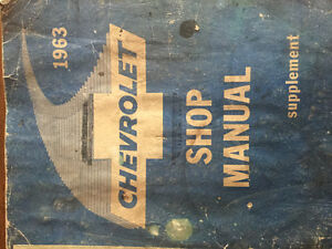 Owners shop manual for a 1963 Chev Impala.