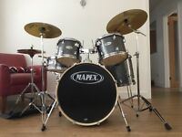 Males 5 piece drum kit c/w cymbals